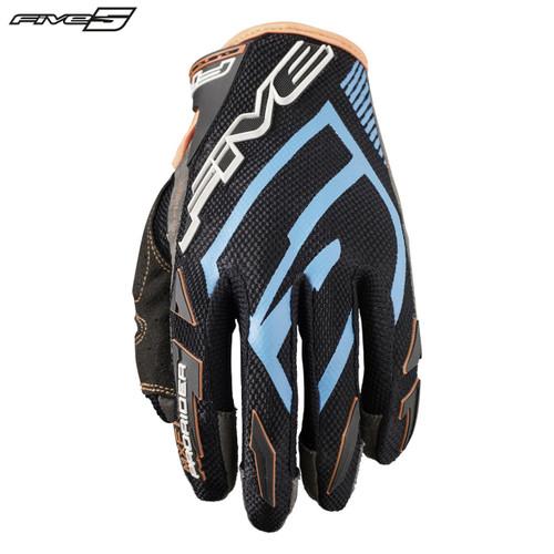 Five MXF Pro Rider S Adult Gloves Blue/Flo Orange