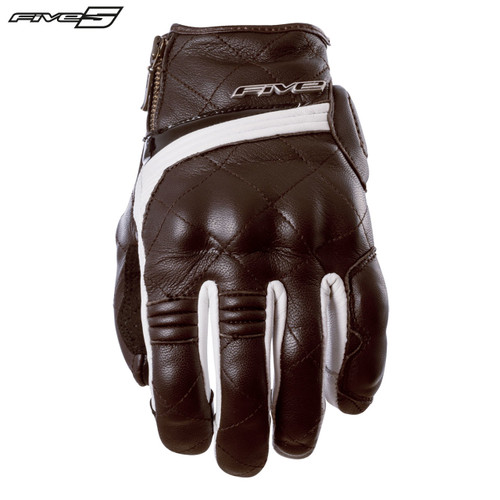 Five Sport City Womens Adult Gloves Brown/White