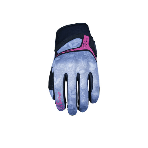 Five RS3 Replica Womens Adult Gloves Flower Grey/Fluo Pink