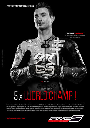 Thomas CHAREYRE 5 times World Champ with FIVE