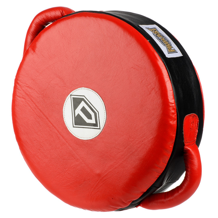 PROLAST ELITE Leather Professional Boxing Round POWER Punch Shield Red/Black