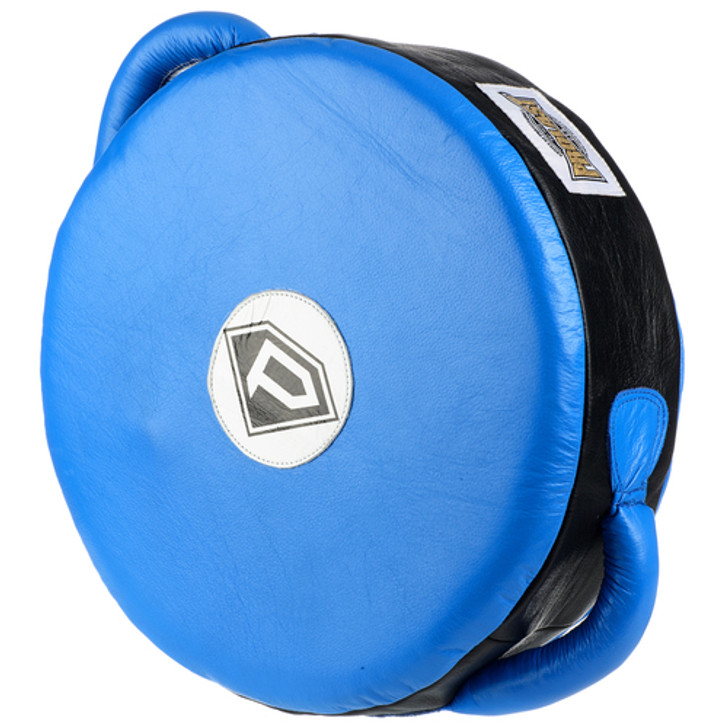 PROLAST ELITE Leather Professional Boxing Round POWER Punch Shield Blue/Black