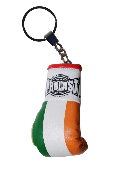 PROLAST® IRELAND FLAG BOXING GLOVE KEY RING (MADE IN USA)