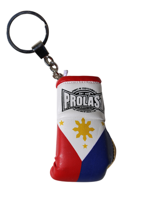 PROLAST® PHILIPPINES FLAG BOXING GLOVE KEY RING (MADE IN USA)