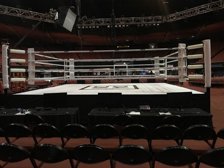 14' X 14' Boxing Ring With Complete Wood