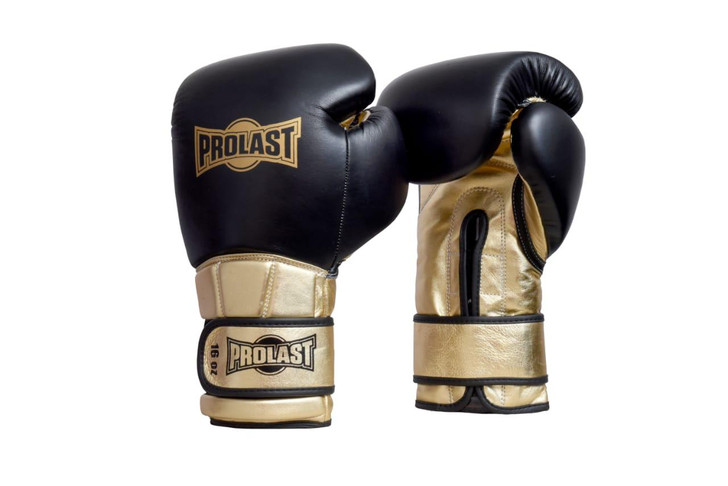 PROLAST® Boxing Luxury Professional Velcro Training Gloves - Gold/ Black