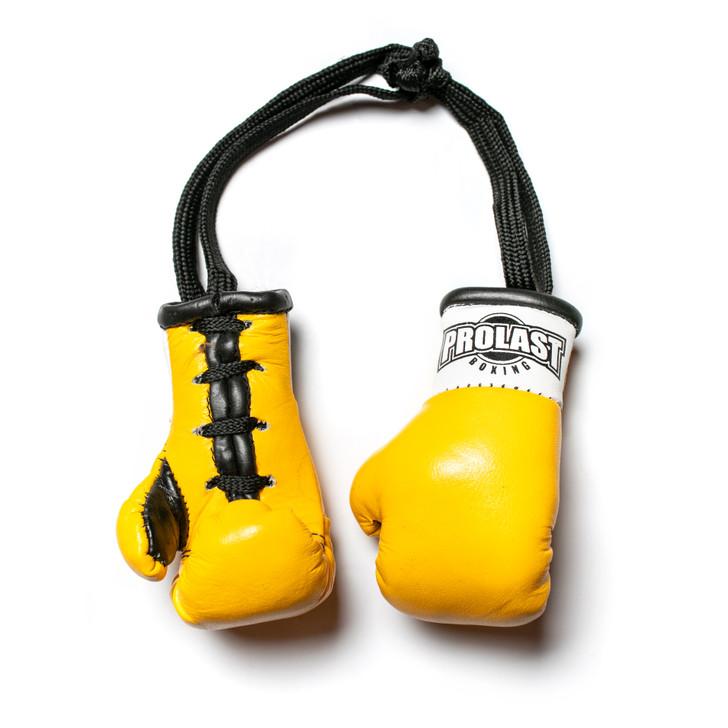 PROLAST Luxury Leather Yellow Mini Boxing Gloves