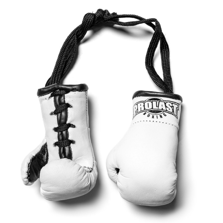 PROLAST Luxury Leather White Mini Boxing Gloves