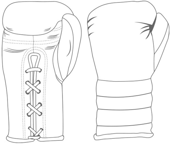 Custom Boxing Gloves Lace Up / Ridged