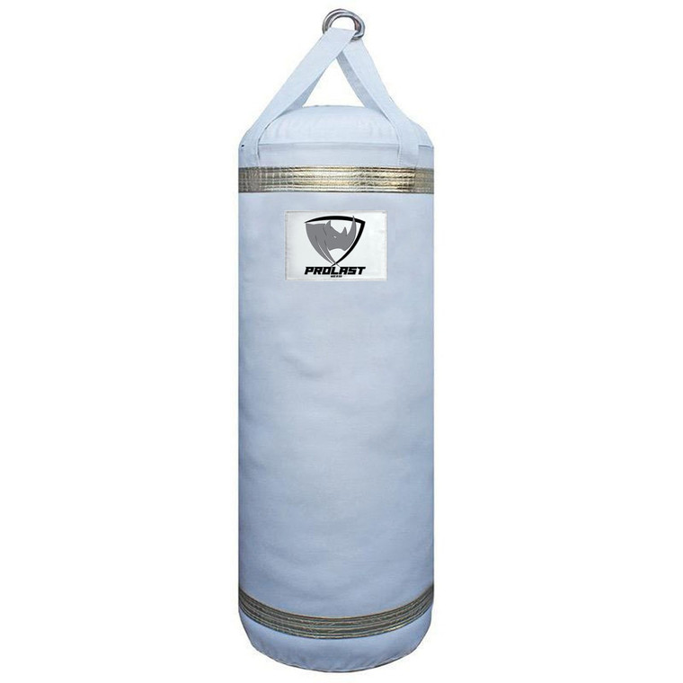 PROLAST Boxing / MMA 4FT XL Luxury Heavy Punching Bag White/Gold (MADE IN USA)