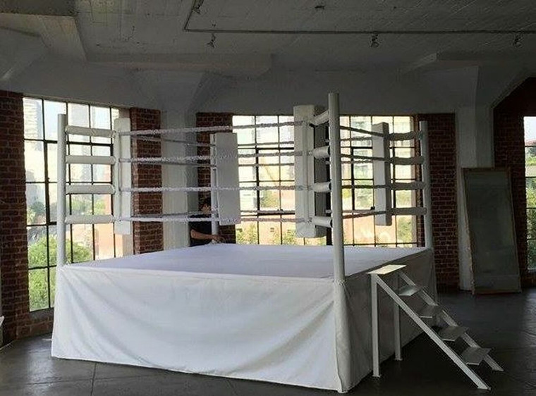 12' X 12' Boxing Ring With Complete Custom White or Black Color