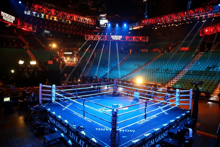 PROLAST 22' X 22' Dual Level Drop-N-Lock Competition Boxing Ring (With Flooring)