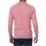 Sweater Long Sleeves Round Neck Pullrus100 Pink