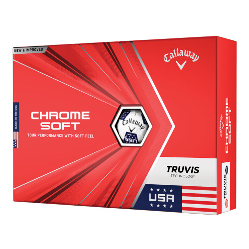 Callaway Chrome Soft USA Truvis Golf Balls - Limited Edition
