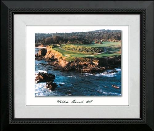 """Pebble Beach Hole #7 - 22"""" x 25"""" Framed Artwork"""