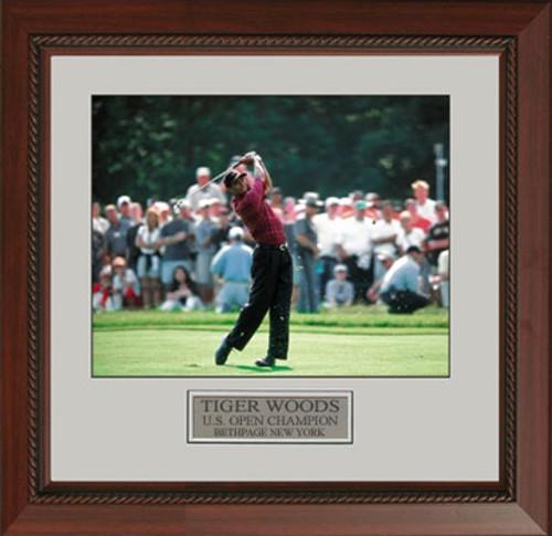 "Tiger Woods Swing at 2002 US Open - 22 X 25"" Framed Artwork"