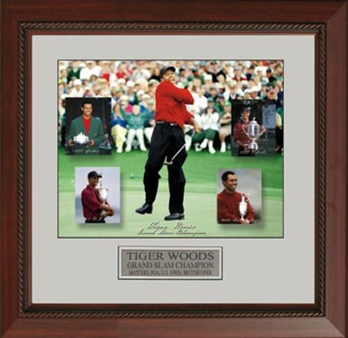 "Tiger Woods Grand Slam - 22 X 25"" Framed Artwork"
