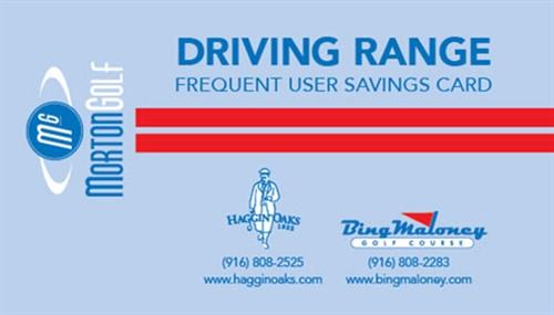 Driving Range Card