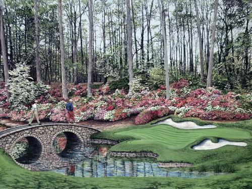 The J. Fitzpatrick Collection Azalea Bridge FRAMED Artwork