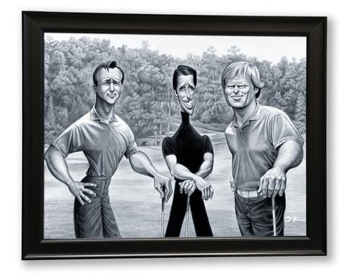 The Big Three - Framed Fine Art Giclee Print