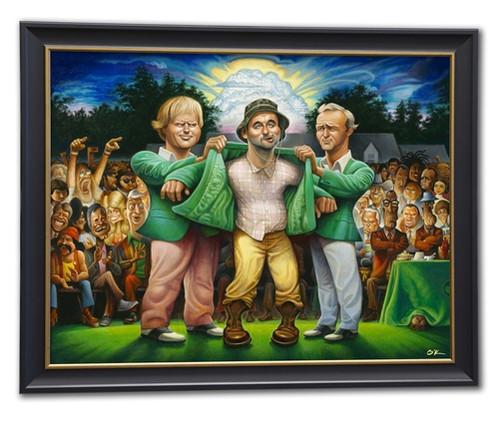 The Green Jacket - Framed Fine Art Giclee Print