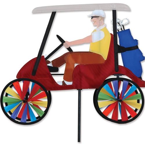 """WindGarden Golf Cart Red Spinner 17"""""""