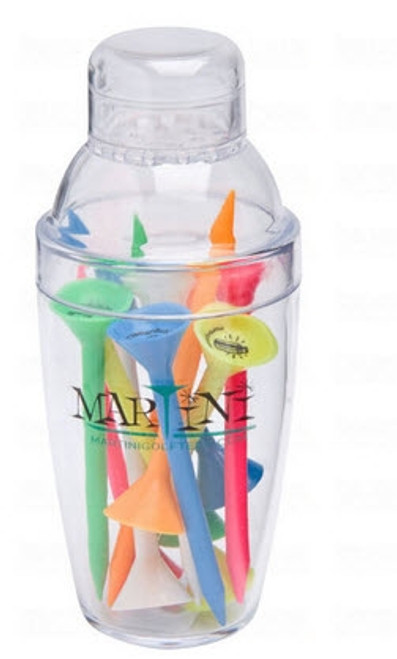 Snowden Golf Martini Tees and Shaker