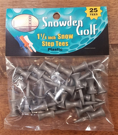 "Snowden Golf 1 1/4"" Plastic Step Tees"