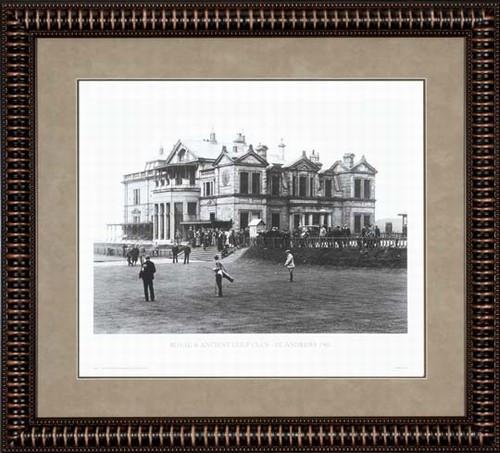 """St. Andrews 1905 28 1/2"""" x 24"""" Framed B&W Artwork"""