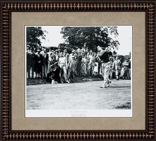 """Walter Hagen 28 1/2"""" x 24"""" Framed B&W Artwork"""