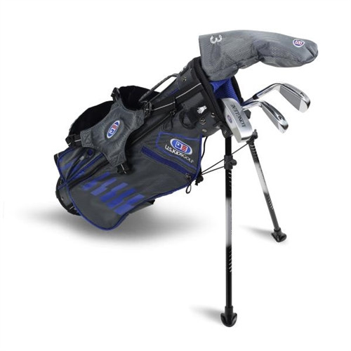 """U.S. Kids Golf Ultralight 45"""" Stand Bag 4-Club Set"""
