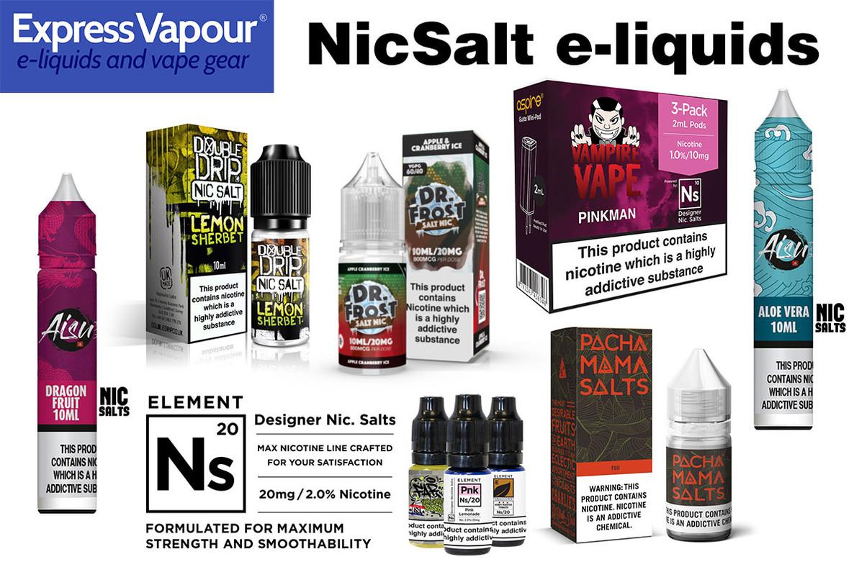 Expanded range of SaltNic 20mg e-liquids
