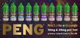 Peng NicSalts e-liquids now in stock