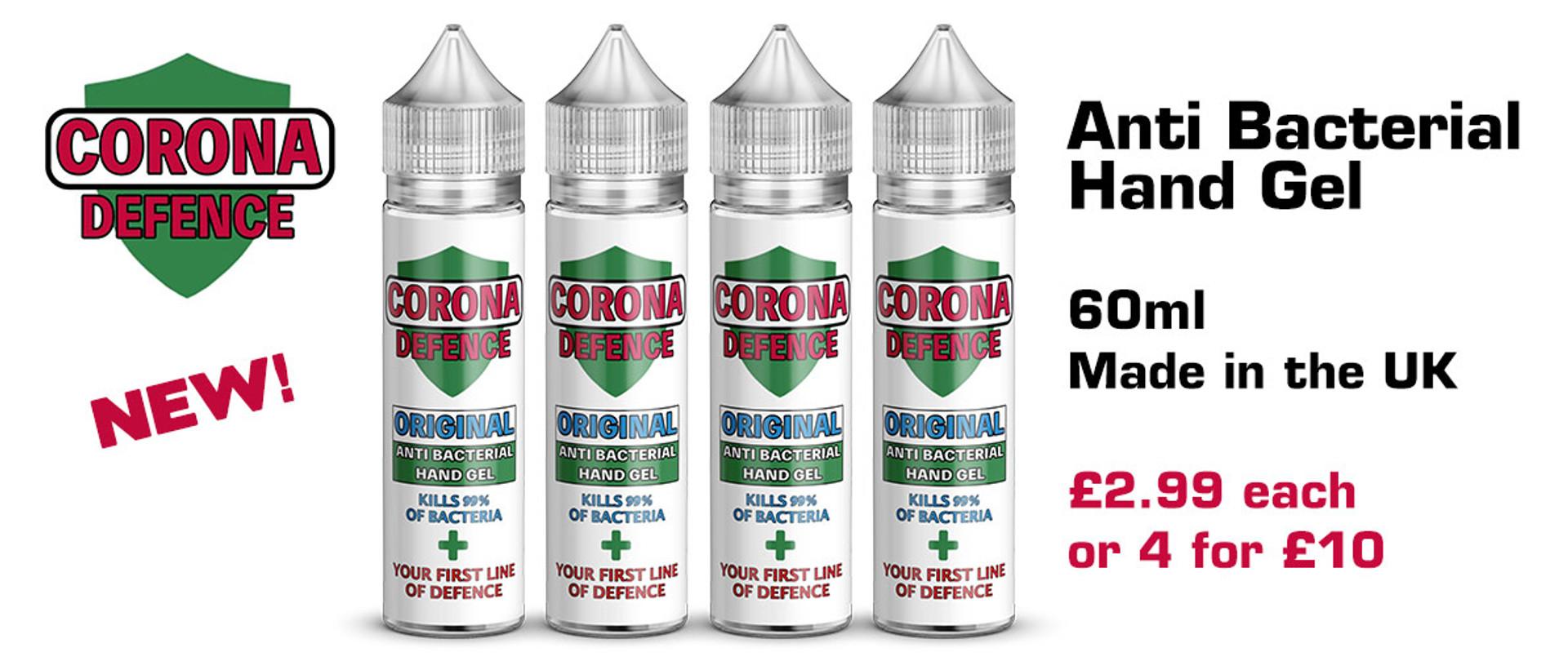 anti bacterial hand gel corona defence