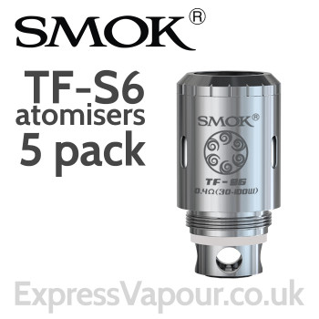 5 Pack - SMOK TF-S6 Sextuple Coil Head 0.4 ohm Atomisers