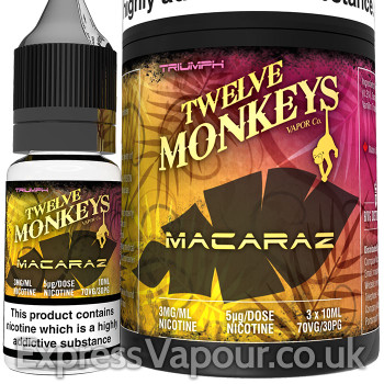 MACARAZ - Twelve Monkeys e-liquid - 70% VG - 30ml