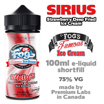 Sirius - Dr Fog's Famous Ice Cream eliquid - 75% VG - 100ml