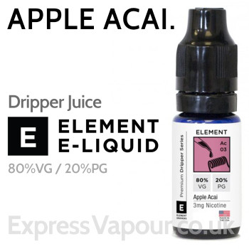 Apple Acai - ELEMENT 80% VG Dripper e-Liquid - 10ml