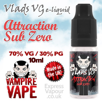 Attraction Sub Zero - VLADS VG - 70% VG - 10ml