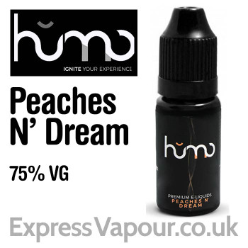 Peaches N' Dream by HUMO e-liquid - 75% VG - 10ml