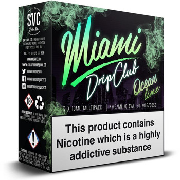 Ocean Lime by Miami Drip Club eliquid - 70% VG 30ml