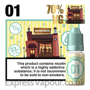 Recipe 01 - VaporWorks e-liquid - 70% - 30ml