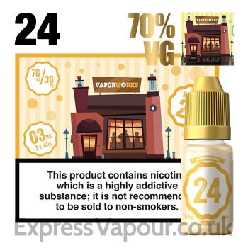Recipe 24 - VaporWorks e-liquid - 70% - 30ml