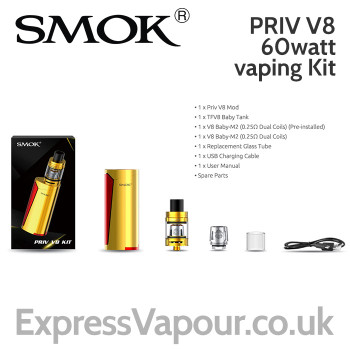 SMOK PRIV V8 60watt Vaping Kit