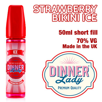 Strawberry Bikini Ice - Dinner Lady eliquids - 70% VG - 50ml