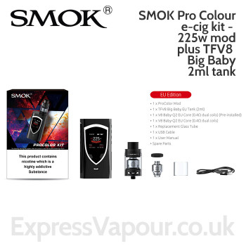 SMOK Pro Colour e-cig kit - 225w mod plus TFV8 Big Baby 2ml tank