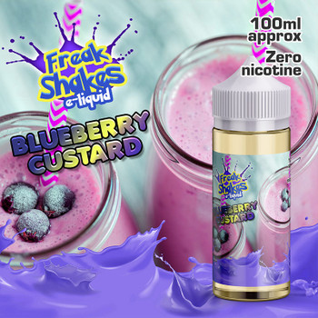 BLUEBERRY CUSTARD - Freak Shakes e-liquid - 70% VG - 100ml