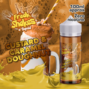 CUSTARD AND CARAMEL DOUGHNUT - Freak Shakes e-liquid - 70% VG - 100ml