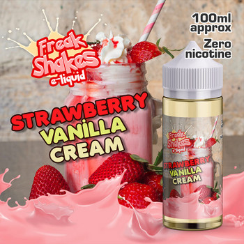 STRAWBERRY VANILLA CREAM - Freak Shakes e-liquid - 70% VG - 100ml