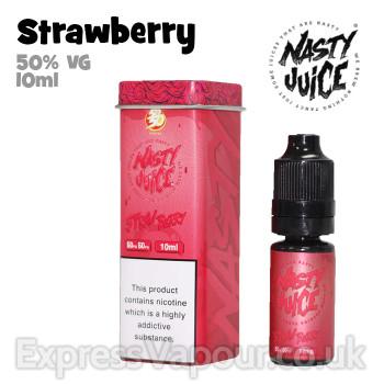 Strawberry - Nasty Juice e-liquid - 50% VG - 10ml